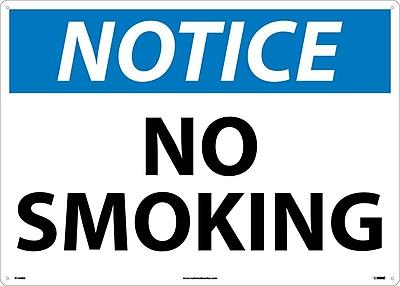 Notice, No Smoking, 20X28, Rigid Plastic