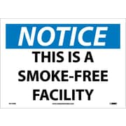 Notice, This Is A Smoke Free Facility, 10X14, Adhesive Vinyl