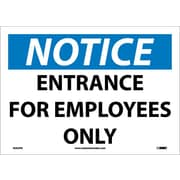 Notice, Entrance For Employees Only, 10X14, Adhesive Vinyl