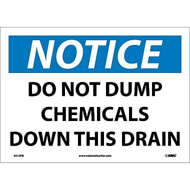 Notice, Do Not Dump Chemicals Down This Drain, 10X14, Adhesive Vinyl
