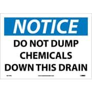 Notice, Do Not Dump Chemicals Down This Drain, 10X14, Adhesive Vinyl