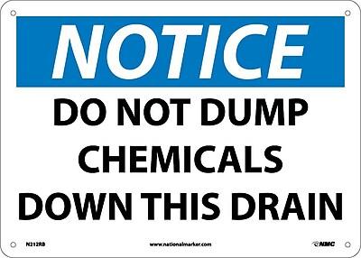 Notice, Do Not Dump Chemicals Down This Drain, 10X14, Rigid Plastic