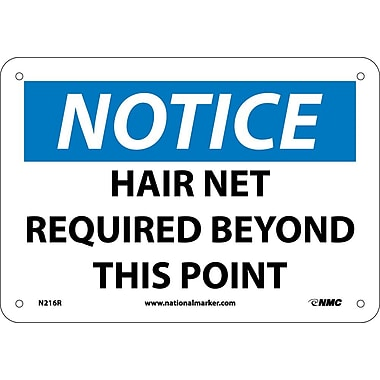 Notice, Hair Net Required Beyond This Point, 7