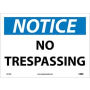 Notice, No Trespassing, 10X14, Adhesive Vinyl