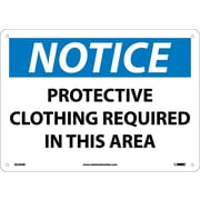 Notice, Protective Clothing Required In This. . ., 10X14, .040 Aluminum