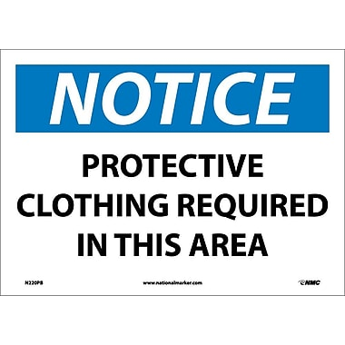 Notice, Protective Clothing Required In This Area, 10