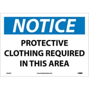 Notice, Protective Clothing Required In This Area, 10X14, Adhesive Vinyl