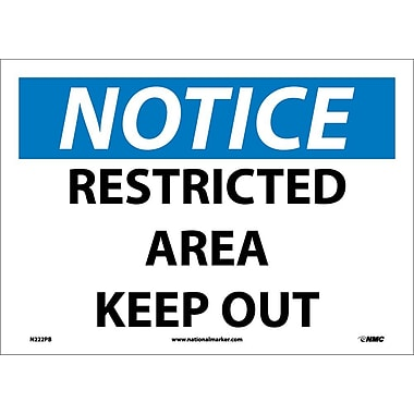 Notice, Restricted Area Keep Out, 10