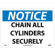 Notice, Chain All Cylinders Securely, 10X14, Adhesive Vinyl