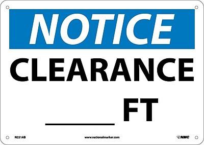 Notice, Clearance___Ft., 10X14, .040 Aluminum