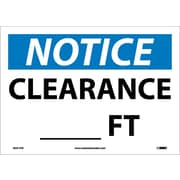 Notice, Clearance___Ft., 10X14, Adhesive Vinyl