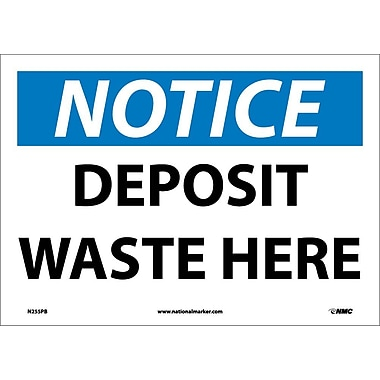 Notice, Deposit Waste Here, 10