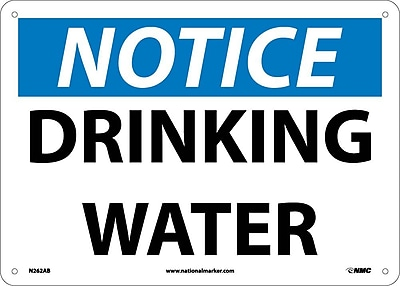 Notice, Drinking Water, 10X14, .040 Aluminum