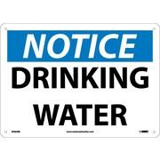 "Notice, Drinking Water, 10"" x 14"", Rigid Plastic"
