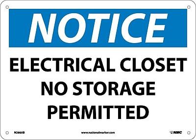Notice, Electrical Closet No Storage Permitted, 10X14, .040 Aluminum