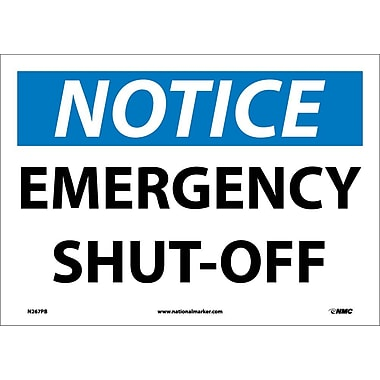 Notice, Emergency Shut-Off, 10X14, Adhesive Vinyl