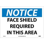 Notice, Face Shield Required In This Area, 10X14, Adhesive Vinyl