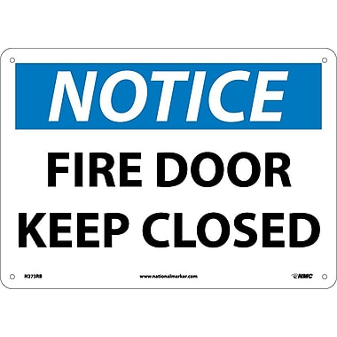 Notice, Fire Door Keep Closed, 10X14, Rigid Plastic