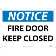 Notice, Fire Door Keep Closed, 10X14, Rigid Plastic
