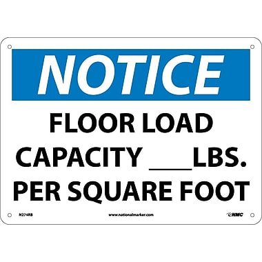 Notice, Floor Load Capacity__Lbs. Per Square Foot, 10