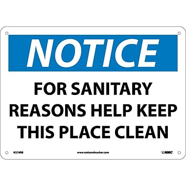 Notice, for Sanitary Reasons Help Keep This Place Clean, 10