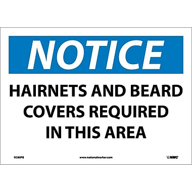 Notice, Hairnets And Beard Covers Required In This Area, 10