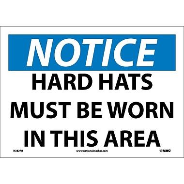 Notice, Hard Hats Must Be Worn In This Area, 10