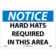 Notice, Hard Hats Required In This Area, 10X14, .040 Aluminum