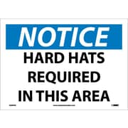 Notice, Hard Hats Required In This Area, 10X14, Adhesive Vinyl