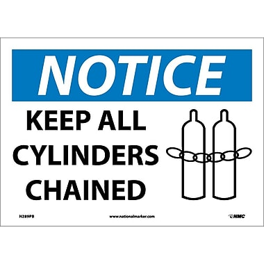 Notice, Keep All Cylinders Chained, Graphic, 10X14, Adhesive Vinyl