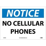 Notice, No Cellular Phones, 10X14, Adhesive Vinyl