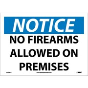 Notice, No Firearms Allowed On Premises, 10X14, Adhesive Vinyl