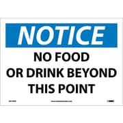Notice, No Food Or Drink Beyond This Point, 10X14, Adhesive Vinyl