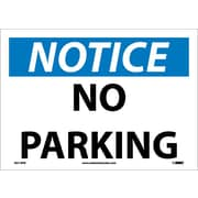 Notice, No Parking, 10X14, Adhesive Vinyl