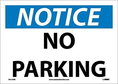 Notice, No Parking, 10X14, Adhesive Vinyl