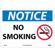 Notice, No Smoking, Graphic, 10X14, Rigid Plastic