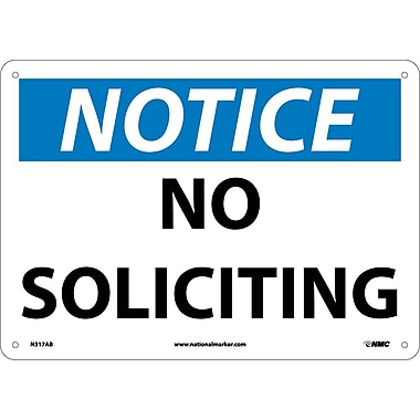 Notice, No Soliciting, 10