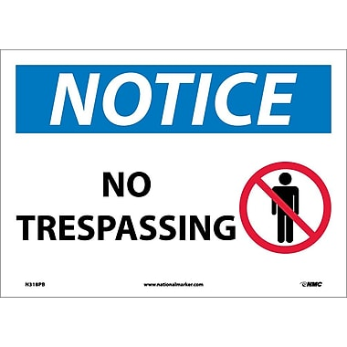 Notice, No Trespassing, Graphic, 10