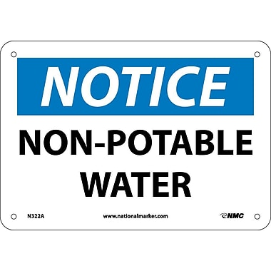 Notice, Non-Potable Water, 7