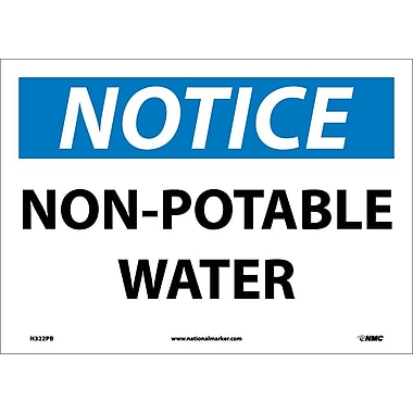 Notice, Non-Potable Water, 10X14, Adhesive Vinyl
