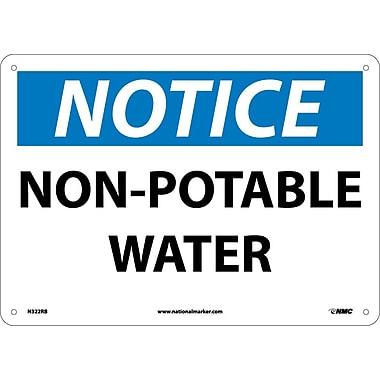 Notice, Non-Potable Water, 10X14, Rigid Plastic