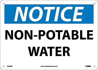 Notice, Non-Potable Water, 10X14, Rigid Plastic