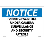 Notice, Parking Facilities Under Camera Surveillance And Security Patrols, 10X14, Adhesive Vinyl