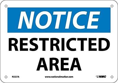 Notice, Restricted Area, 7X10, .040 Aluminum