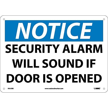 Notice, Security Alarm Will Sound If Door Is Opened, 10
