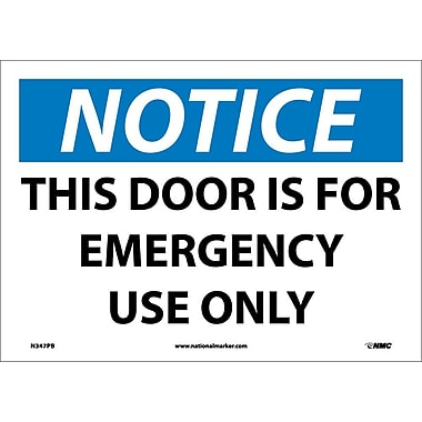 Notice, This Door Is for Emergency Use Only, 10