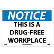 Notice, This Is A Drug-Free Workplace, 10X14, Rigid Plastic