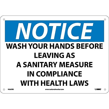 Notice, Wash Your Hands Before Leaving As A Sanitary Measure In Compliance
