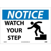 Notice, Watch Your Step, Graphic, 10X14, Adhesive Vinyl