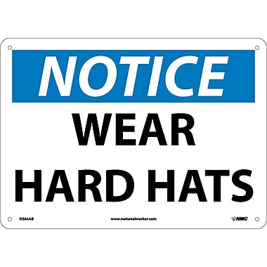 Notice, Wear Hard Hats, 10
